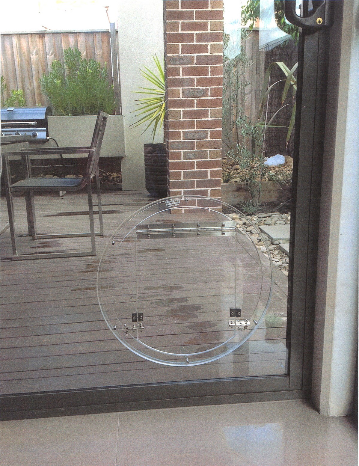 Super Large Round Glass Fitting Door
