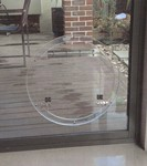 Large Round Glass Fitting Dog Door